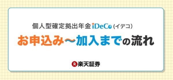 楽天証券 iDeCo申込みから加入までの流れ
