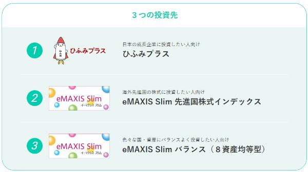 MATSUI SECURITIES CARD 3つのファンド